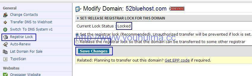 1 registrar unlock